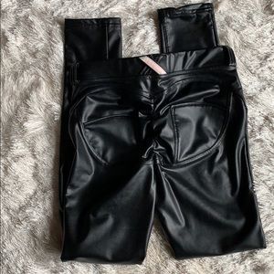 Pants - Faux leather hiney trainers